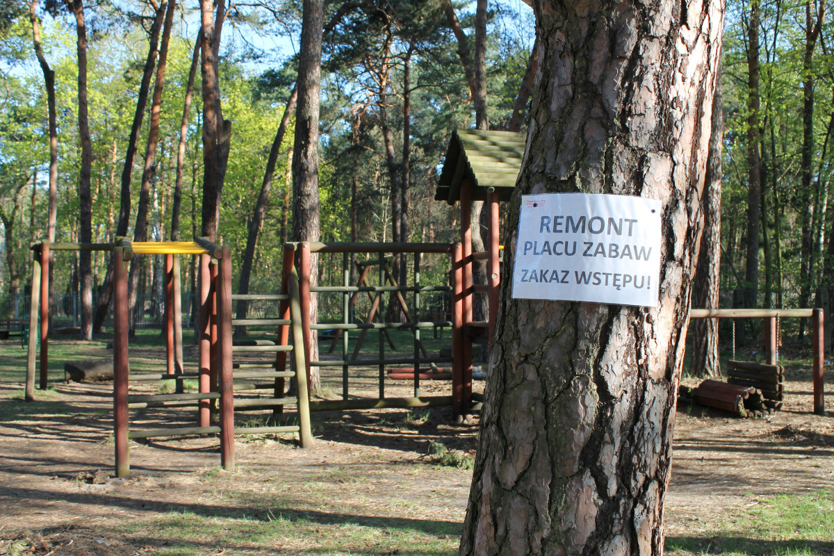 Remont placu zabaw w Żarkach Letnisku