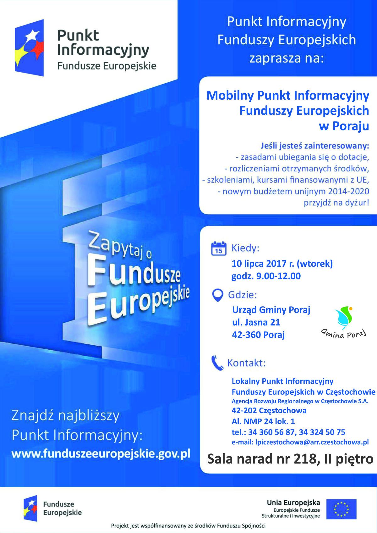 mobilny punkt informacyjny fundusze europejskie
