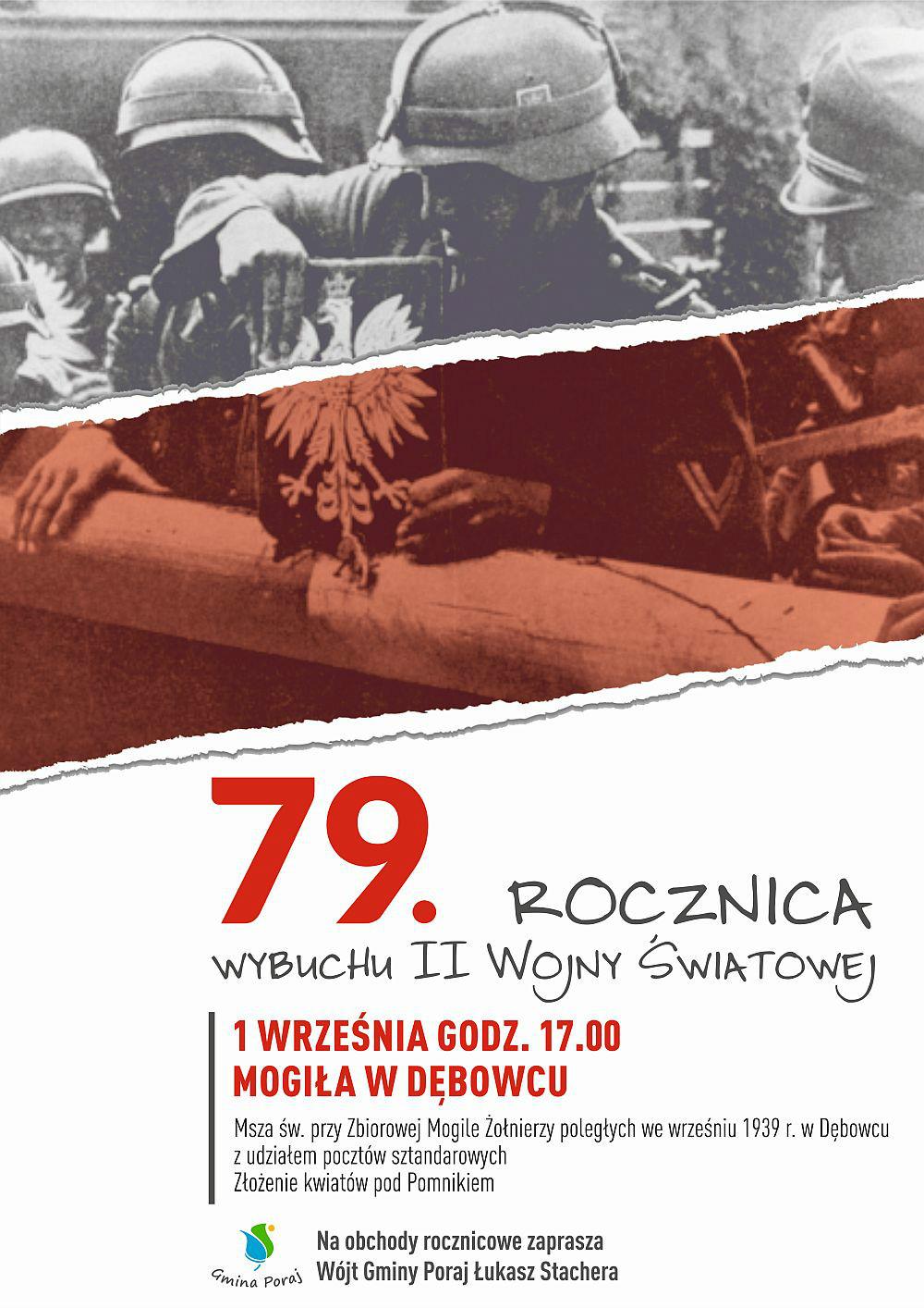 79. rocznica wybuchu II Wojny Światowej w Gminie Poraj