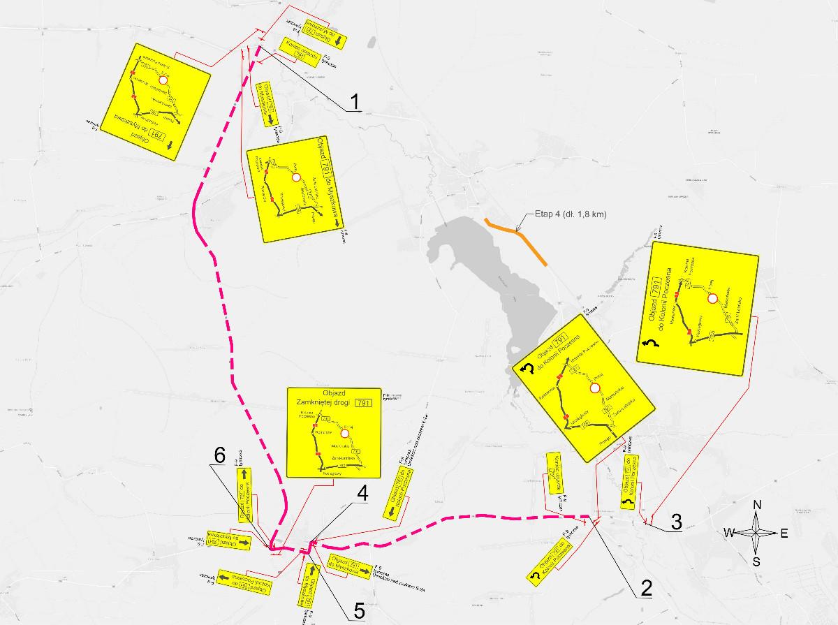 zamknięcie drogi dw791 masłońskie-poraj
