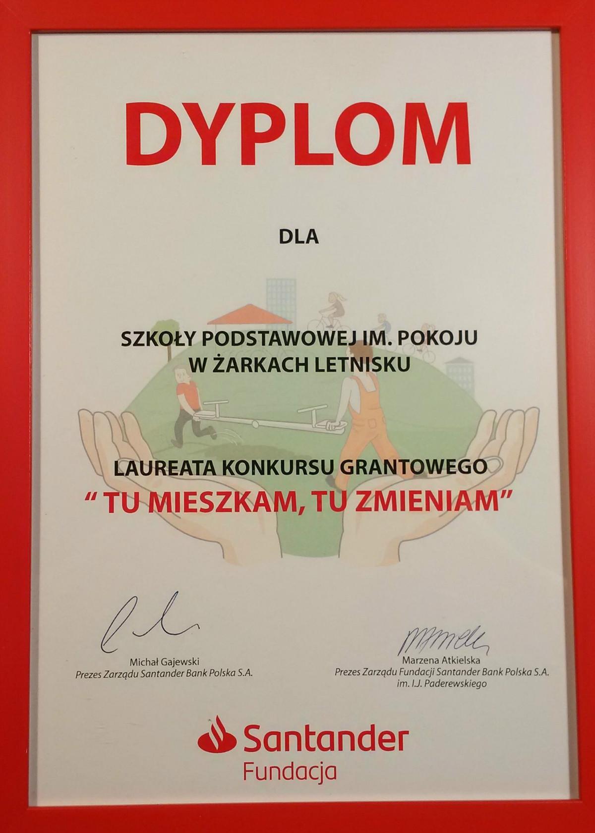 Szkoła Podstawowa w Żarkach Letnisku laureatem konkursu grantowego