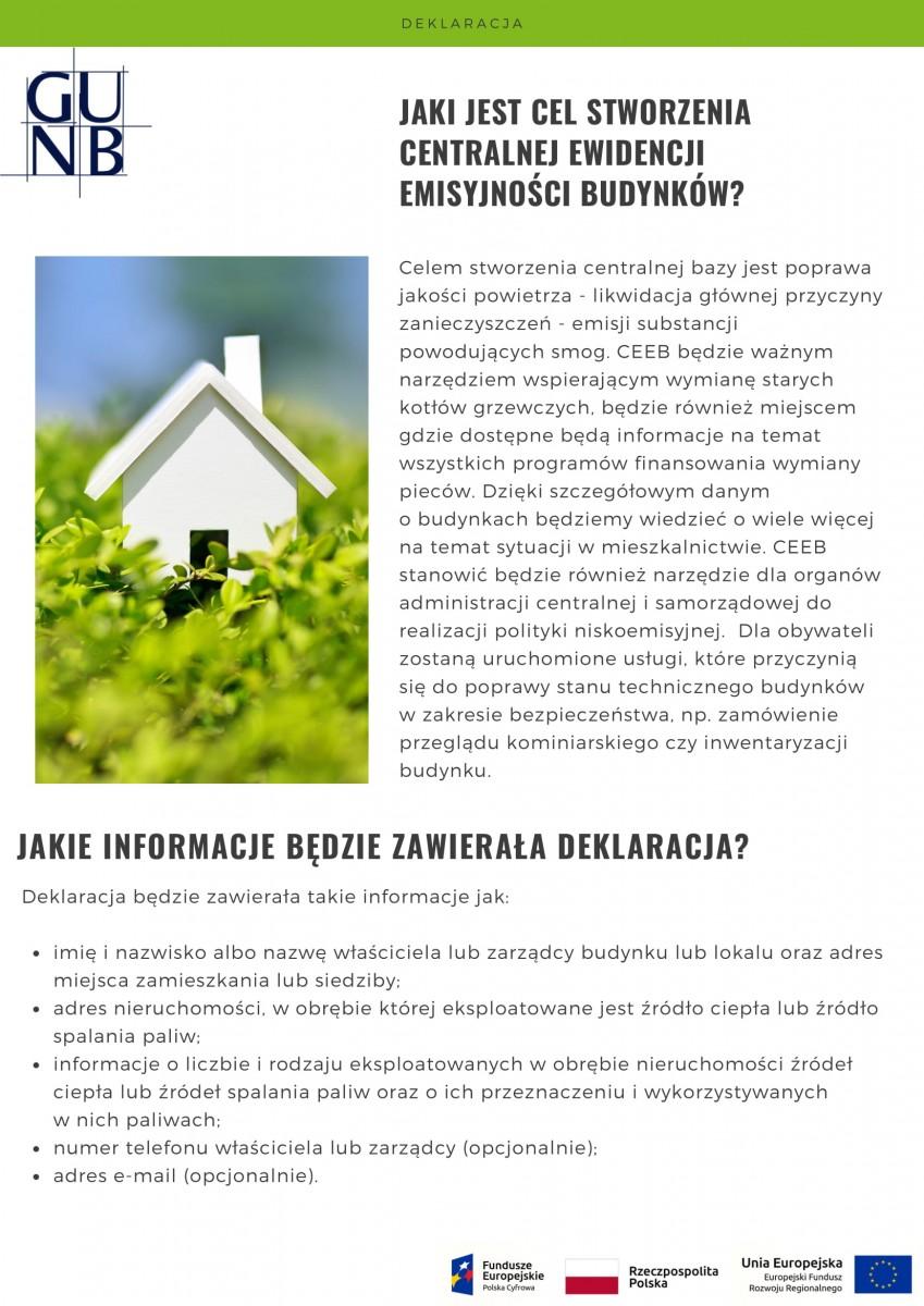 Informator - Centralna Ewidencja Emisyjności Budynków (CEEB) Gmina Poraj